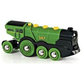 Brio Mohutná elektrická zelená lokomotíva so svetlami
