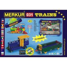 Merkur Stavebnica 031 železničné modely 10 modelov - 211 ks