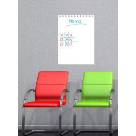 Ambiance Detská biela nástenná tabuľa Flip Chart, 55x40 cm