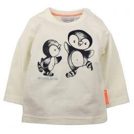 Dirkje Detské tričko s tučniakmi - biele
