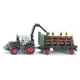 SIKU Farmer - traktor s lesným prívesom 1:87