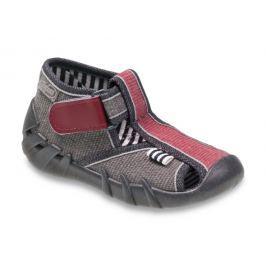 Befado Chlapčenské papučky Speedy - červeno-šedé