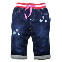 Gelati Dievčenské nohavice so srdiečkami - modré