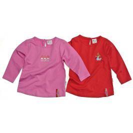 Gelati Dievčenská súprava 2 ks tričiek - ružovo-červené