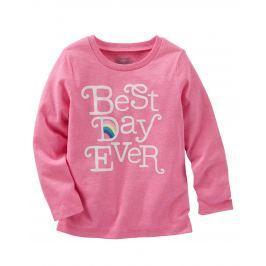 683be964a9ae Detail · Oshkosh Dievčenské tričko Best day - ružové