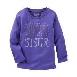 Oshkosh Dievčenské tričko Super sister - fialové
