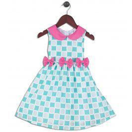Joe and Ella Dievčenské šaty Cynthia - zeleno-ružové