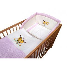 Cosing Detská 3 dielna súprava obliečok De Luxe Včielka - ružový lem