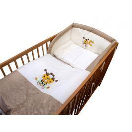 Cosing Detská 3 dielna súprava obliečok De Luxe Včielka - hnedý lem