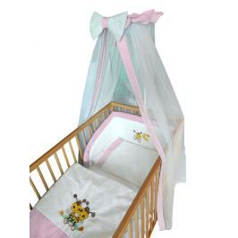 Cosing Detská 4 dielna súprava obliečok De Luxe Včielka - ružový lem
