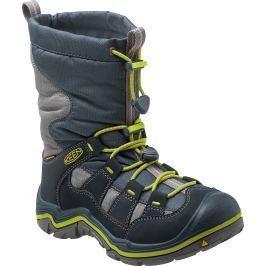 Keen Chlapčenská zimná obuv Winterport II WP - tmavo modrá