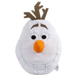 CTI Detský 3D vankúš Frozen - Olaf, 48x35 cm - biely