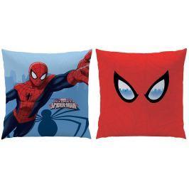 CTI Detský obojstranný vankúš Spiderman, 40x40 cm - červeno-modrý