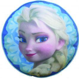 CTI Detský okrúhly vankúš Frozen - Elsa, 36 cm - modrý