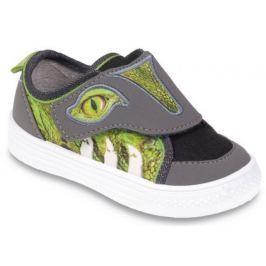 Befado Chlapčenské tenisky s krokodílom Funny - zeleno-šedé