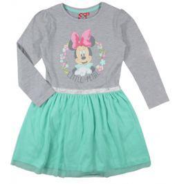 E plus M Dievčenské šaty Minnie - šedo-zelené