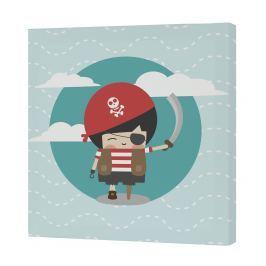Happynois Nástenný obraz Pirata - pirát, 27x27 cm