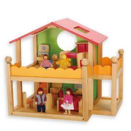 Edukalu Domček pre bábiky s nábytkom
