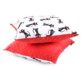 My Best Home Detský vankúš Minky Mačky, 40x40 cm - červený