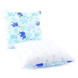 My Best Home Detský vankúš Slony / Hviezdy, 40x40 cm - modro-biely