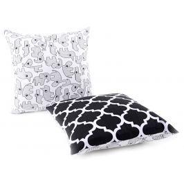 My Best Home Detský vankúš Afrika / Ornamenty, 40x40 cm - čierno-biely