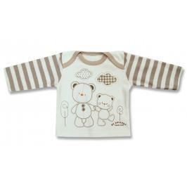 Lafel Detské tričko Macko - bielo-hnedé