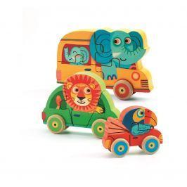 Djeco 3D puzzle Zvieratká idú