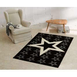 Hanse Home Detský koberec Hviezdy, 140x200 cm - čierny