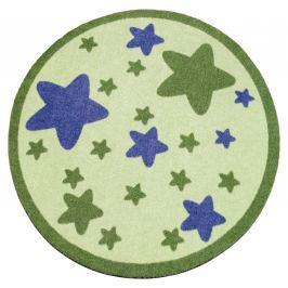 Hanse Home Detský okrúhly koberec Hviezdičky, zelený