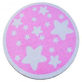 Hanse Home Detský okrúhly koberec Hviezdičky, ružový