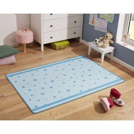 Hanse Home Detský koberec Srdiečka a kvetinky, 100x140 cm - modrý