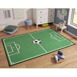 Hanse Home Detský koberec Futbalové ihrisko, 100x140 cm - zelený