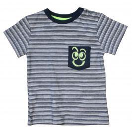 Carodel Chlapčenské prúžkované tričko - šedé