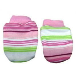 Mamatti Dievčenské prúžkované rukavičky - farebné