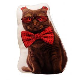 My Best Home Vankúšik Animal - Mačka s mašľou