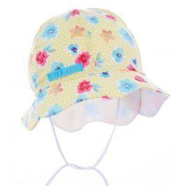 Pupill Dievčenský klobúčik s kvetinami Freesia - žltý