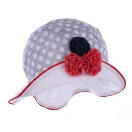 Pupill Dievčenský klobúčik s kvetinkou Rivage - sivý