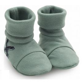 Pinokio Chlapčenské ponožky / capáčky Xavier - zelené