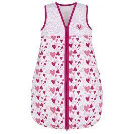 G-mini Dievčenský spací vak Myška - bielo-ružový