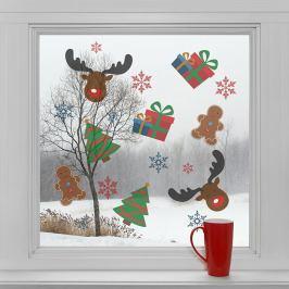 Housedecor Samolepky na sklo Vianočné symboly