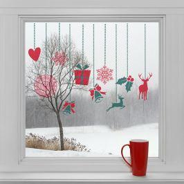 Housedecor Samolepky na sklo Ozdoby na okno