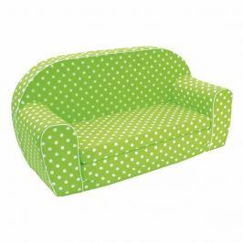 Bino Zelená pohovka s bodkami