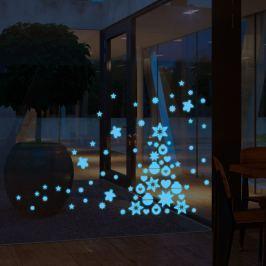 Ambiance Nástenná samolepka Vianočný stromček a ozdoby
