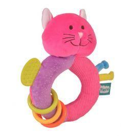 Fiesta Crafts Hrkálka s hryzátkom - Kočička