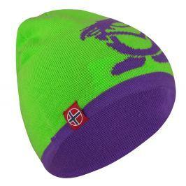 Trollkids Detská obojstranná čiapka Beanie - zeleno-fialová