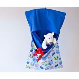 Bartex Design Závesný vreckár na ramienko Sovičky - modrý