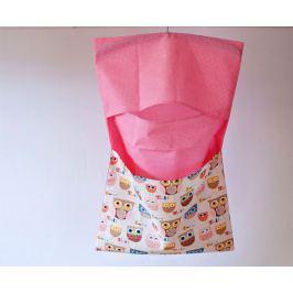 Bartex Design Závesný vreckár na ramienko Sovičky - béžovo-ružový