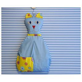 Bartex Design Závesný vreckár Mačička - svieľa modrá
