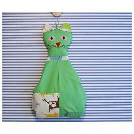 Bartex Design Závesný vreckár Mačička - zelená