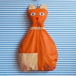 Bartex Design Závesný vreckár Mačička - oranžová